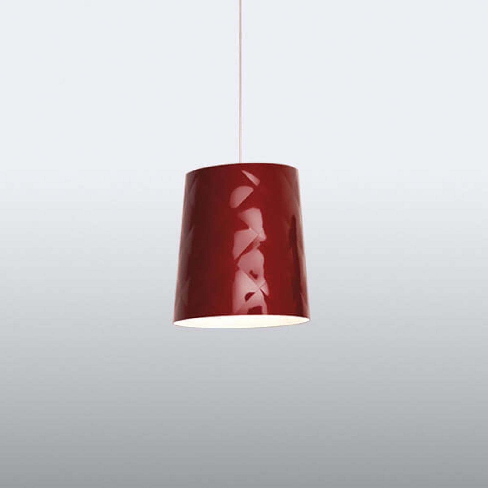 Kundalini New York hengelampe, Ø 33 cm, rød