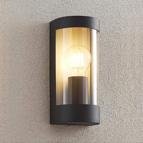 Lindby Junias udendørs væglampe, halvrund, E27