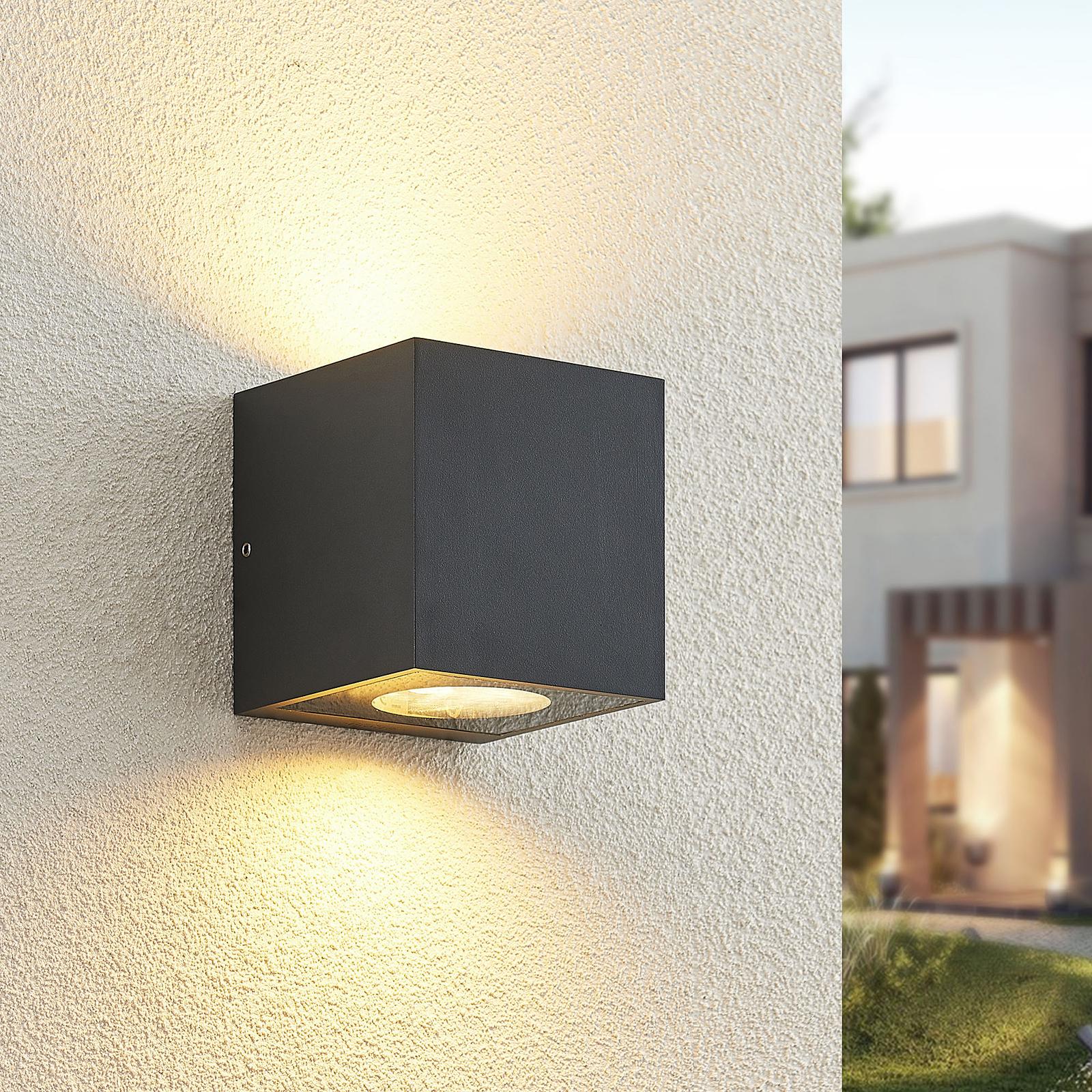 Arcchio Tassnim aplique exterior grafito 2 luces