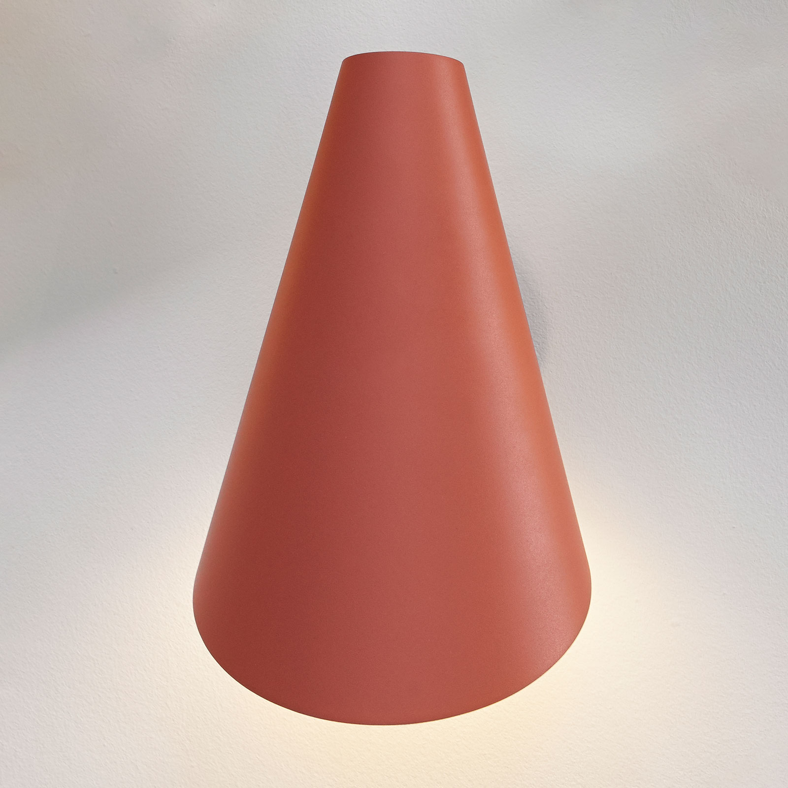 Vibia I.Cono 0720 applique, 28 cm, rouge-brune