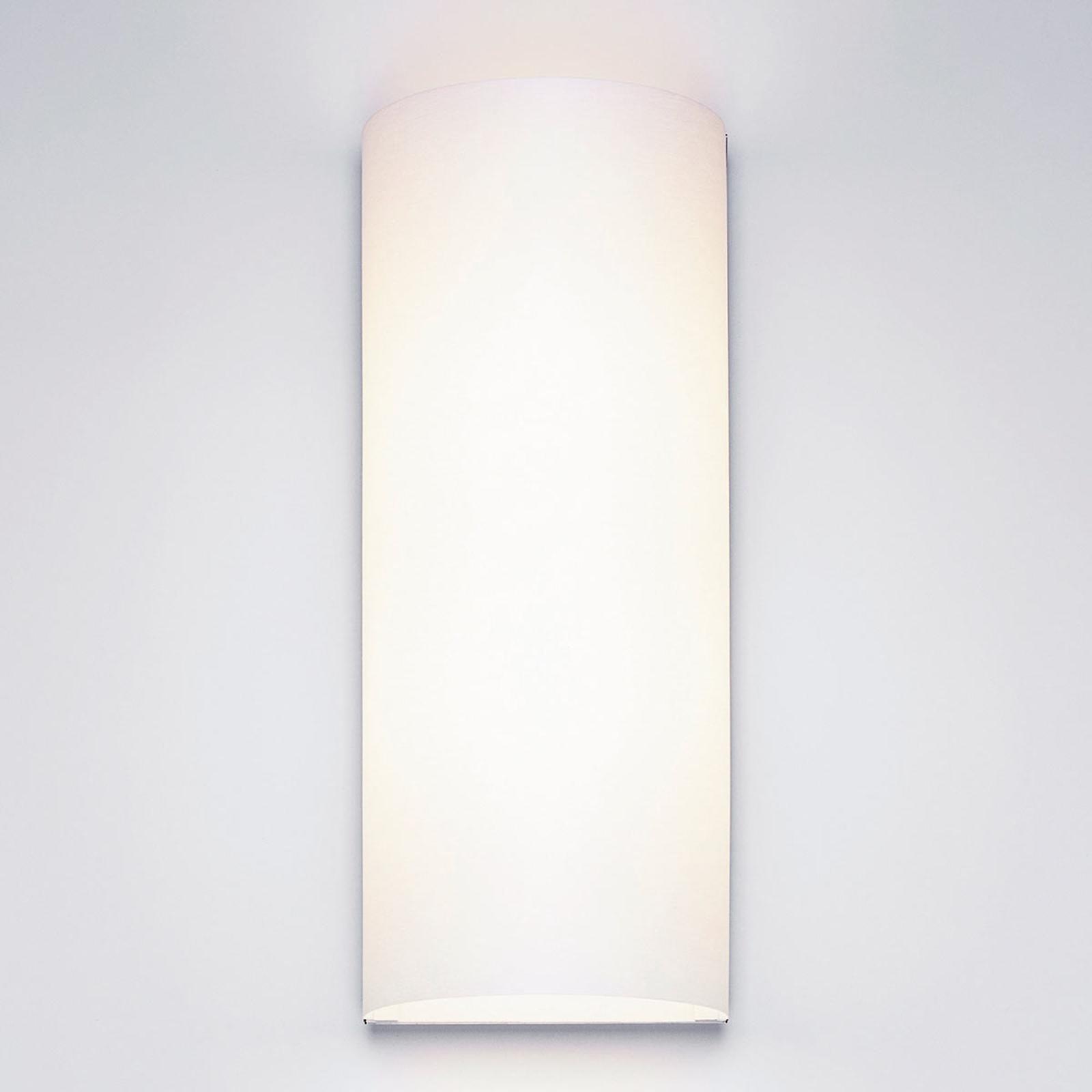 Witte design wandlamp Club met stoffen kap