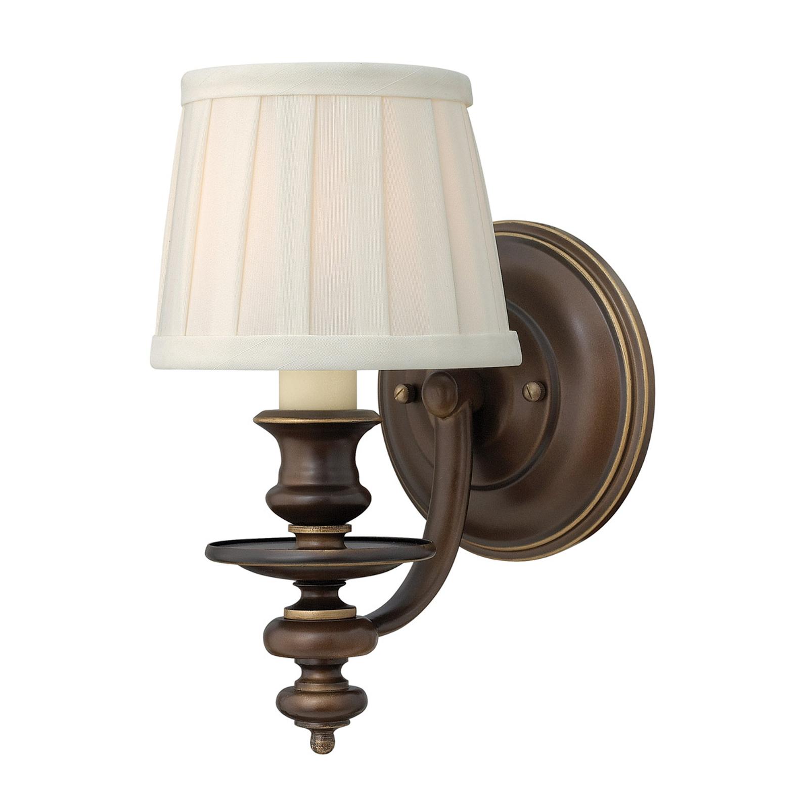Beschermde textiel-wandlamp Dunhill