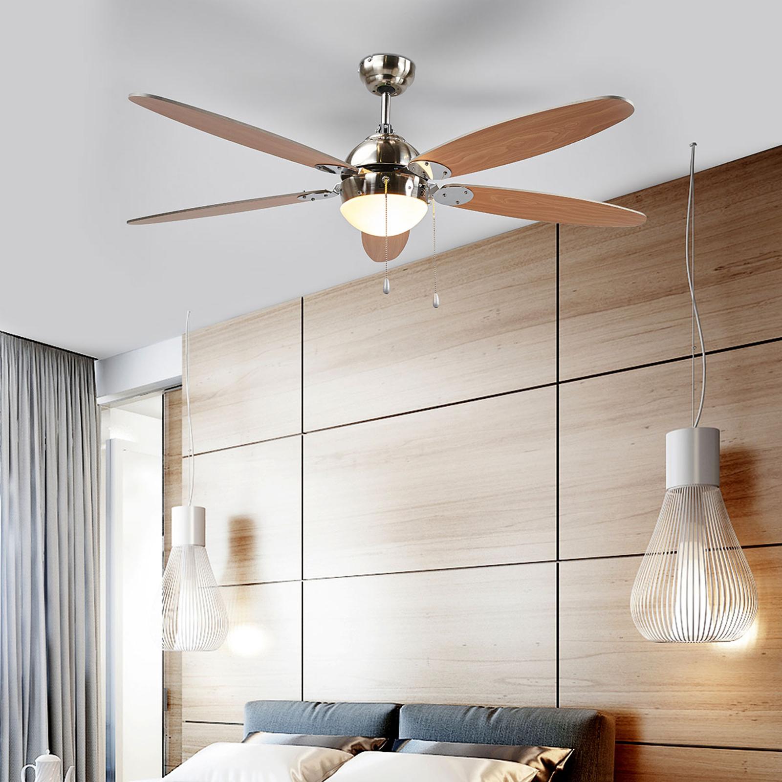 Ventilador de techo Levian con luz