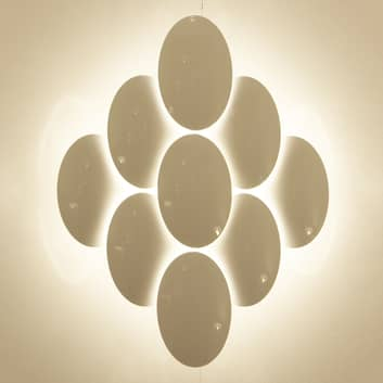 Milan Obolo - aplique LED atenuable - 8 luces