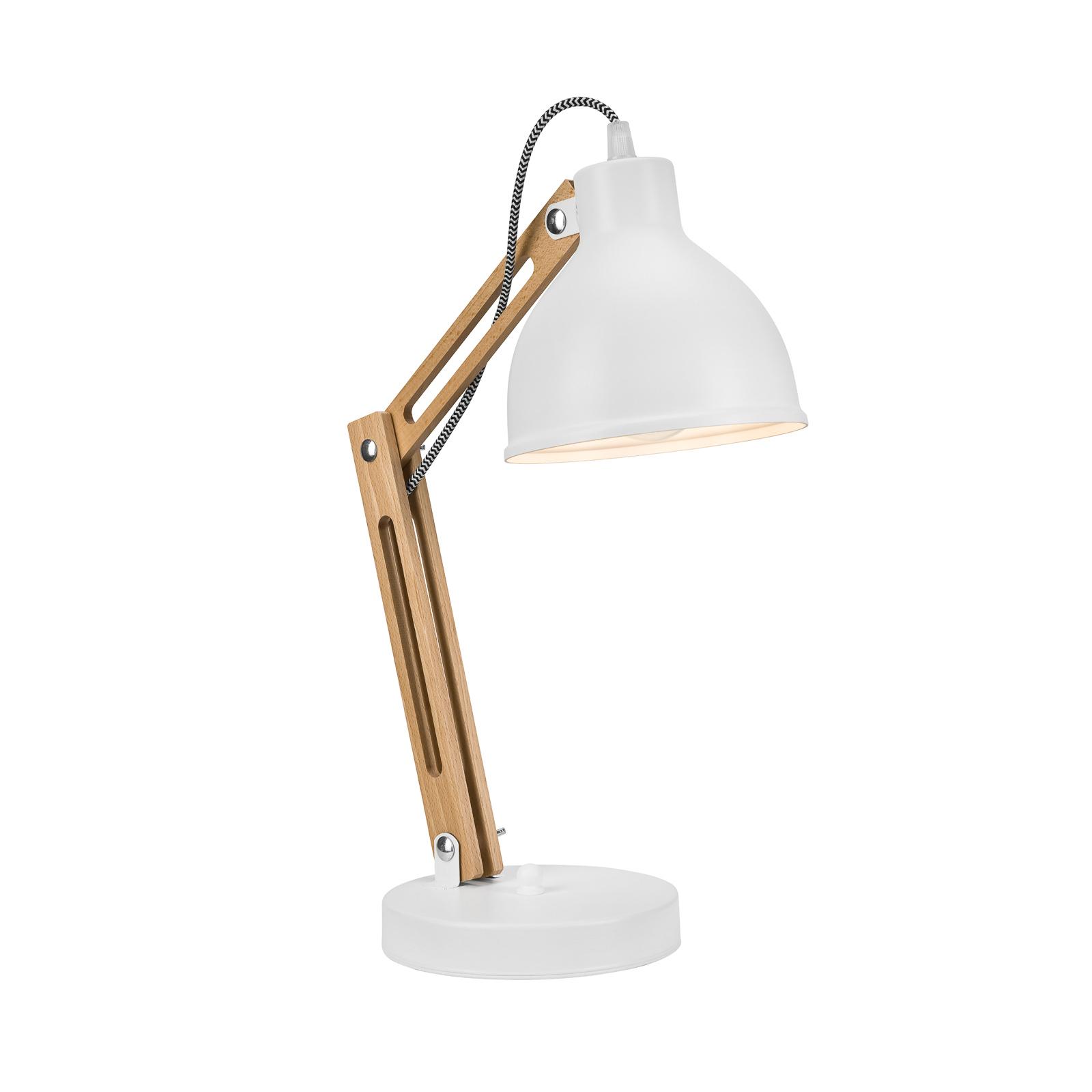 Bordlampe Skansen, justerbar, hvit