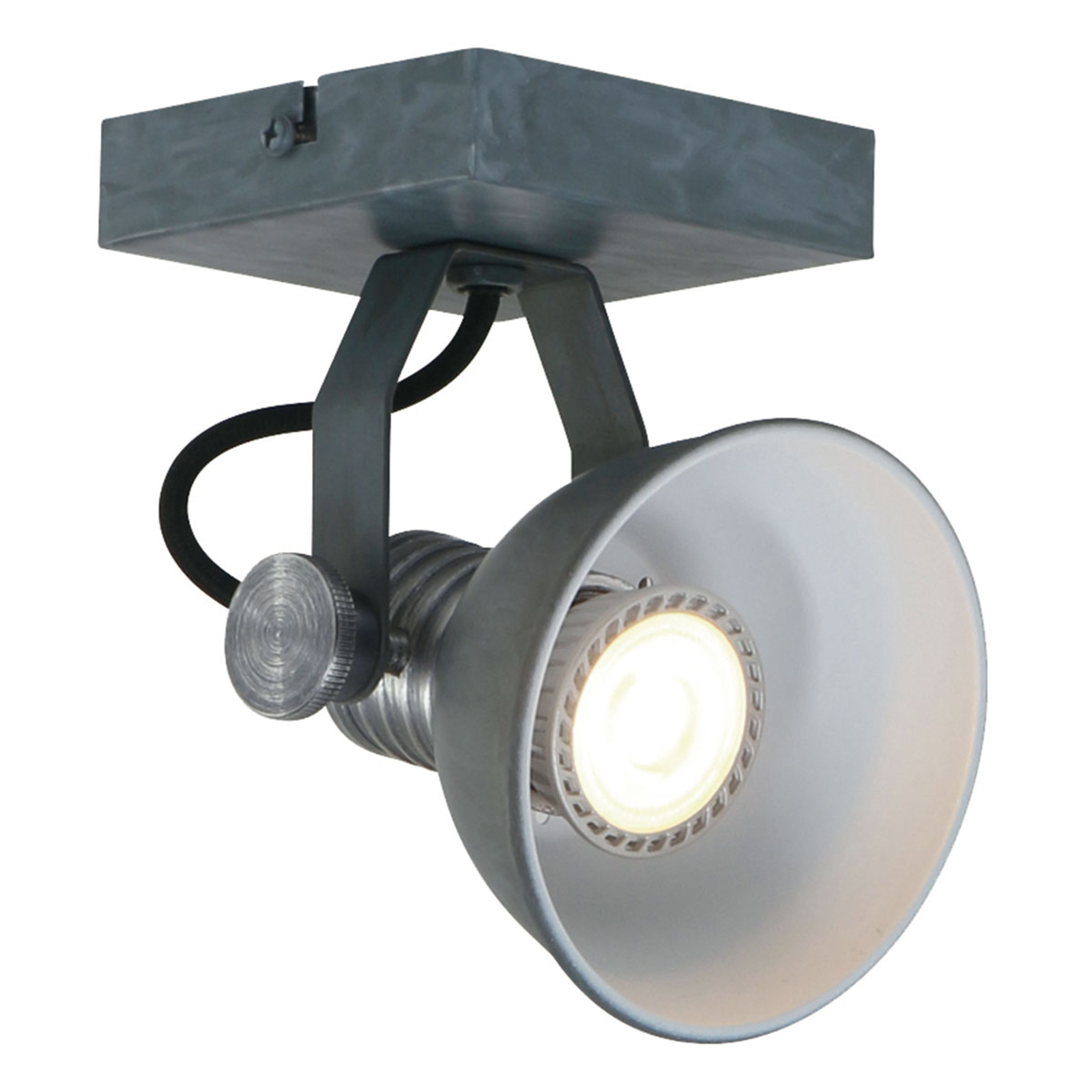 LED-Wandspot Brooklyn 1fl. grau