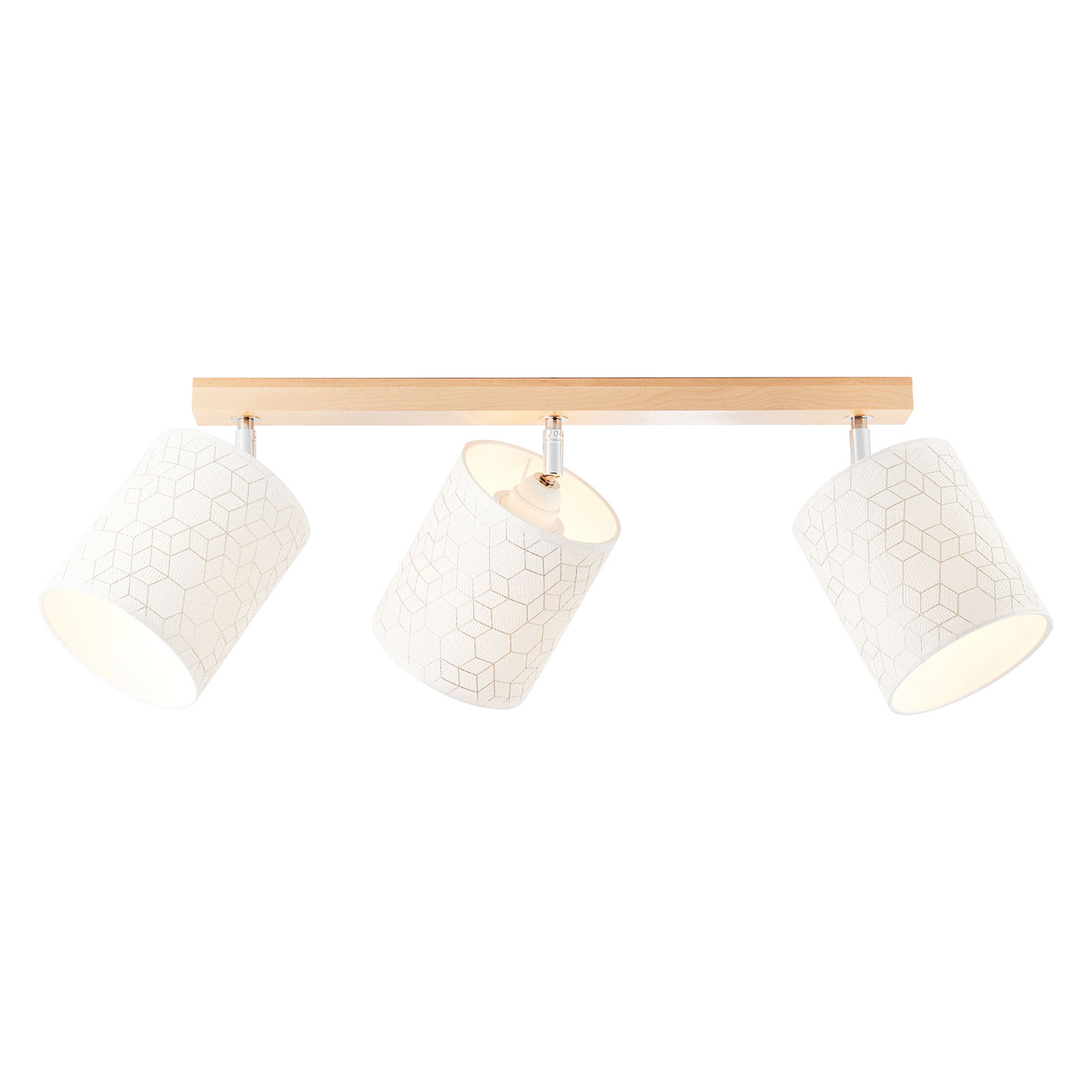 Taklampe Galance, hvit, 3 lyskilder