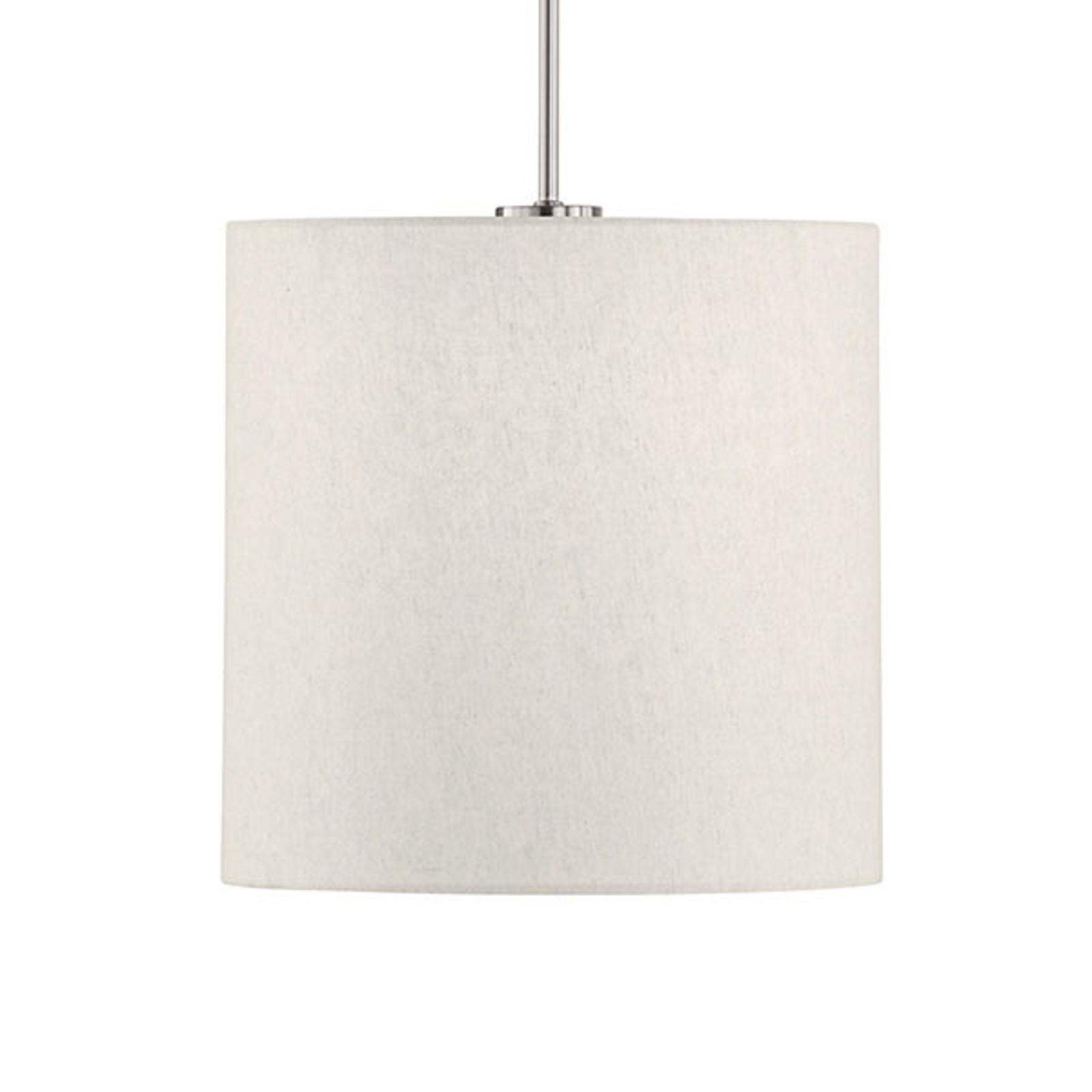 Lámpara colgante Marie, textil, arena Ø 30 cm