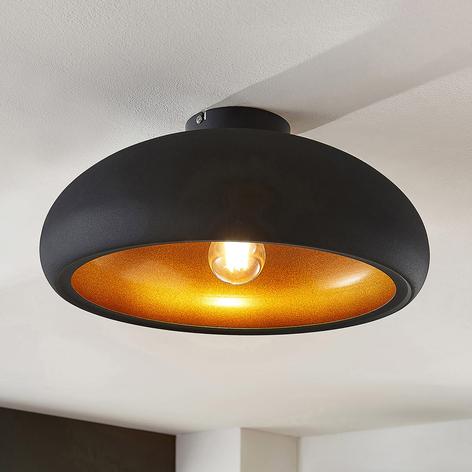 Lámpara de techo metálica Gerwina, dorado-negro