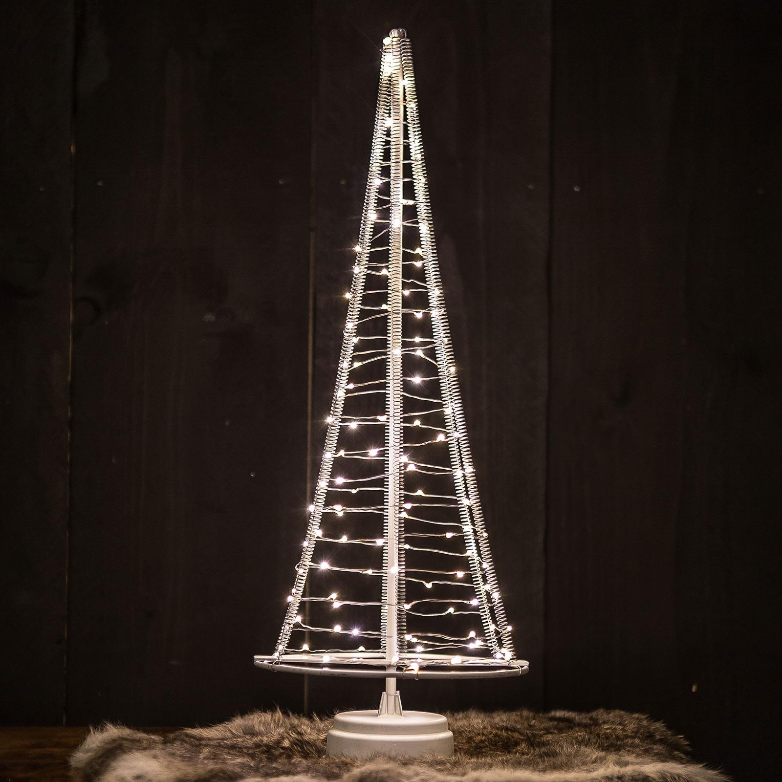 Santa's Tree træ, sølvfarvet ledning