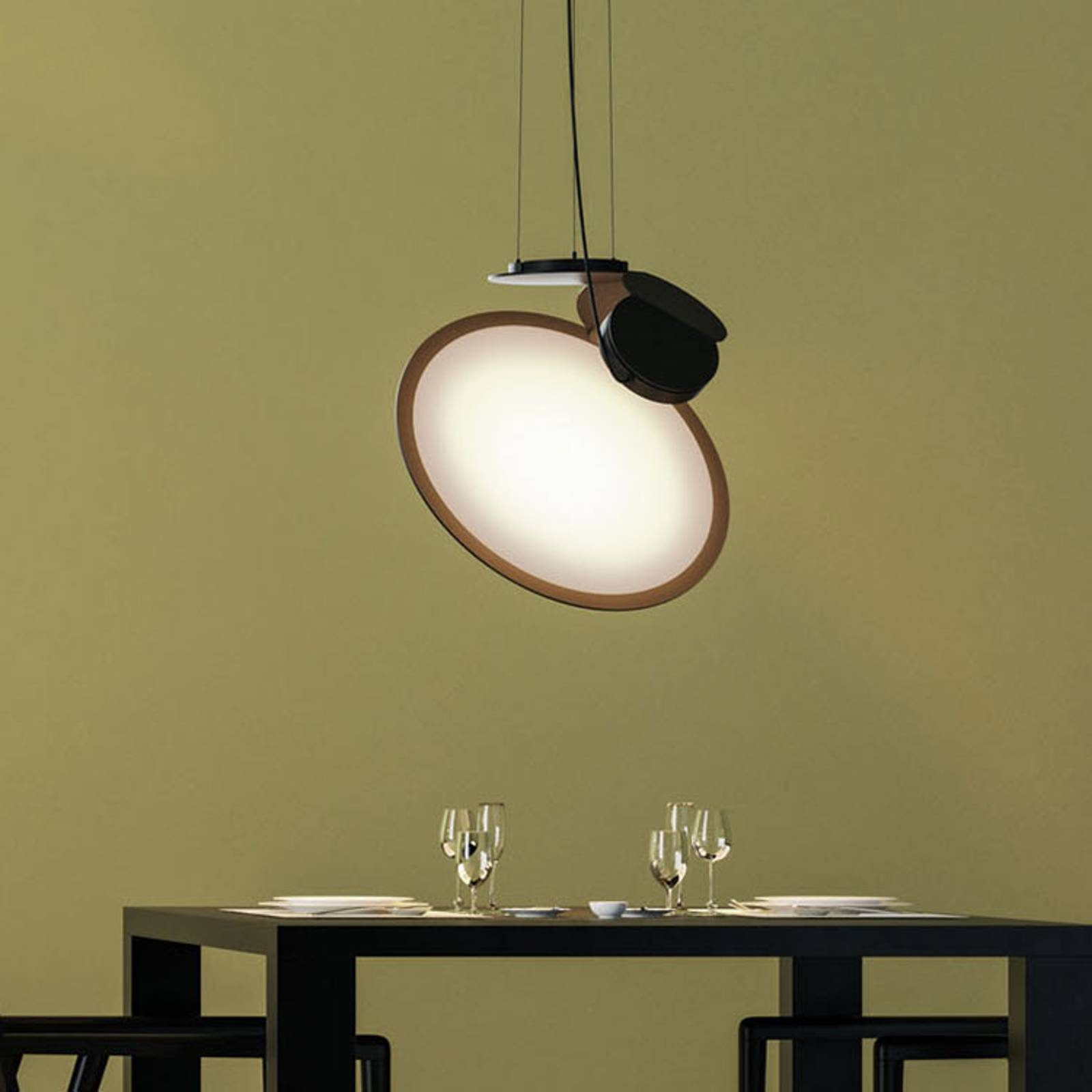 Axolight Cut designerska lampa wisząca LED