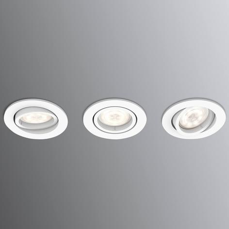 Philips Shellbark LED-Einbauspot 3er rund weiß