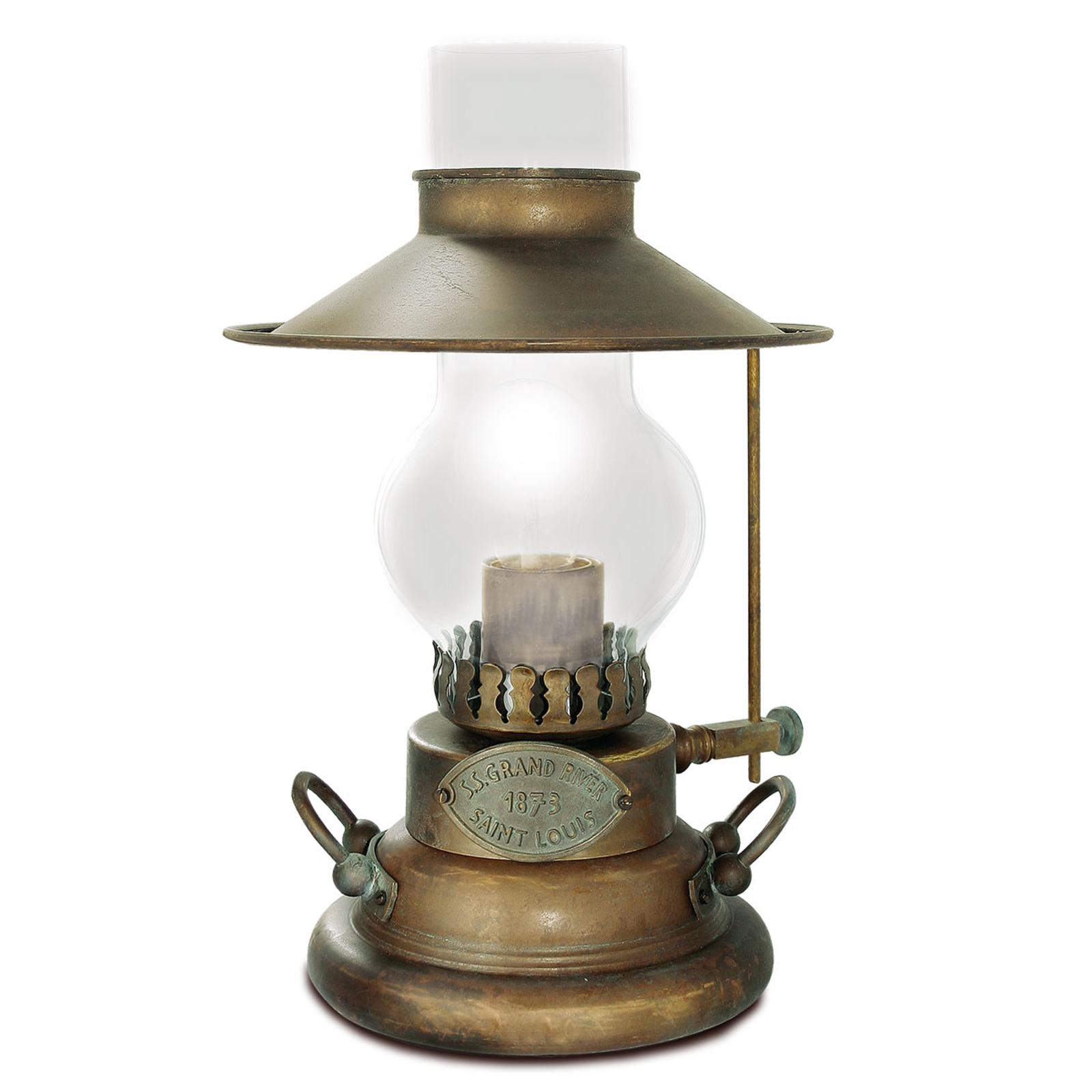 Bordlampe Guadalupa fra gamle tider.
