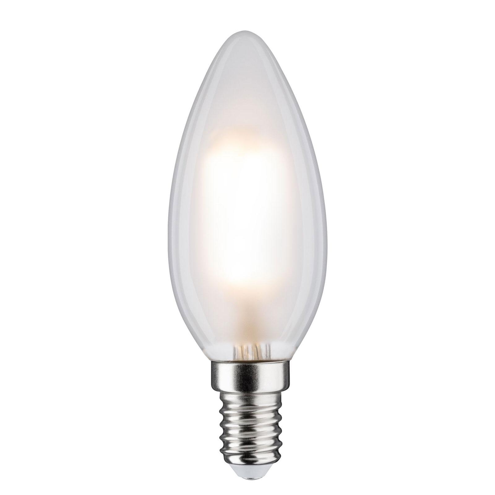 LED-kertepære E14 5W 2.700K, mat, kan dæmpes