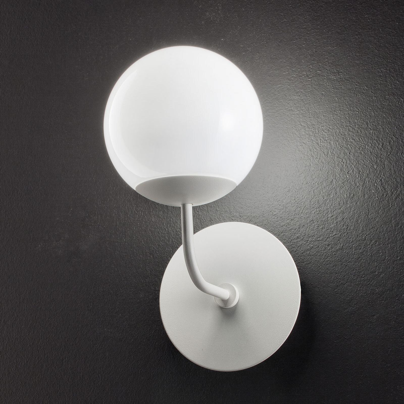 Rund LED-vegglampe Sfera, hvit