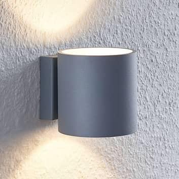 Lindby Mirza Aluminium-Wandleuchte, rund, grau