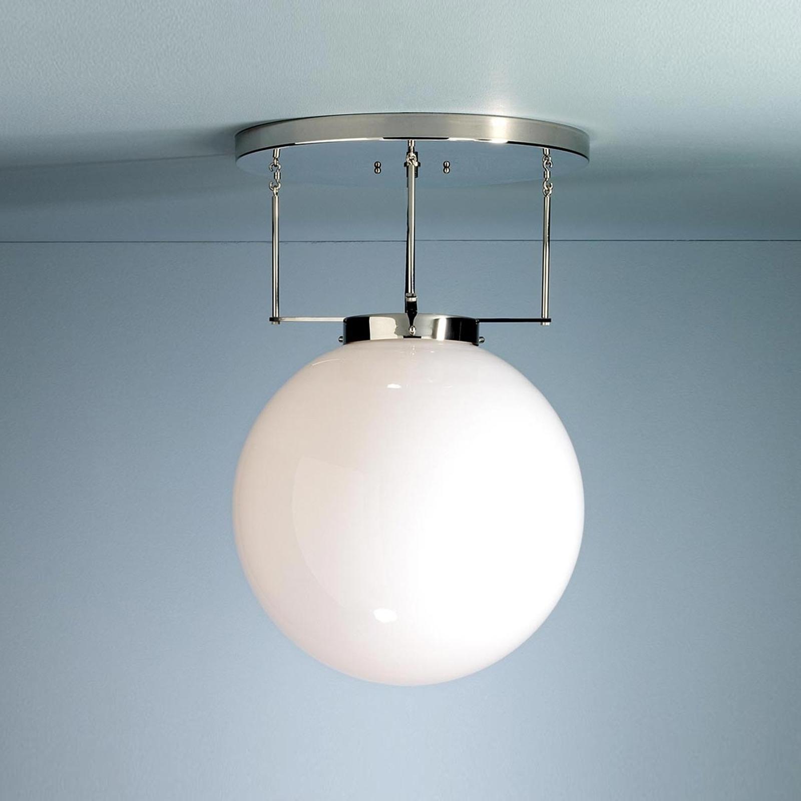 Brandts plafondlamp, Bauhaus-stijl, nikkel, 30 cm