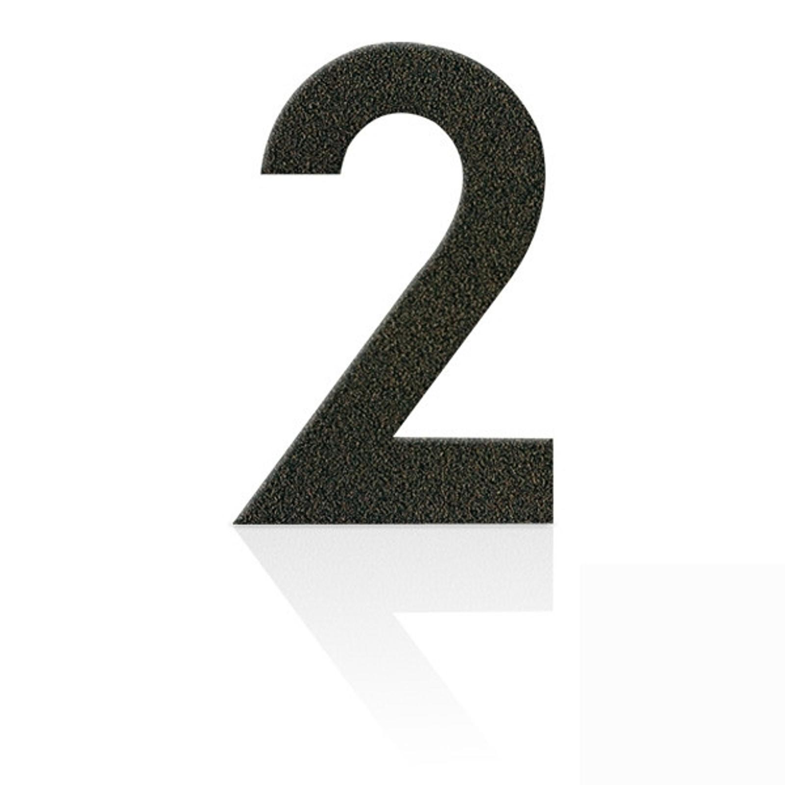 Produktové foto Heibi Nerezová domovní čísla číslice 2, hnědá mocca