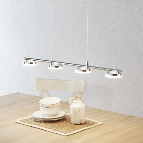 Lámpara LED colgante Rennes brillante, 4 llamas