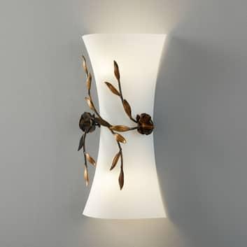 Lámpara de pared Rose con pantalla de vidrio