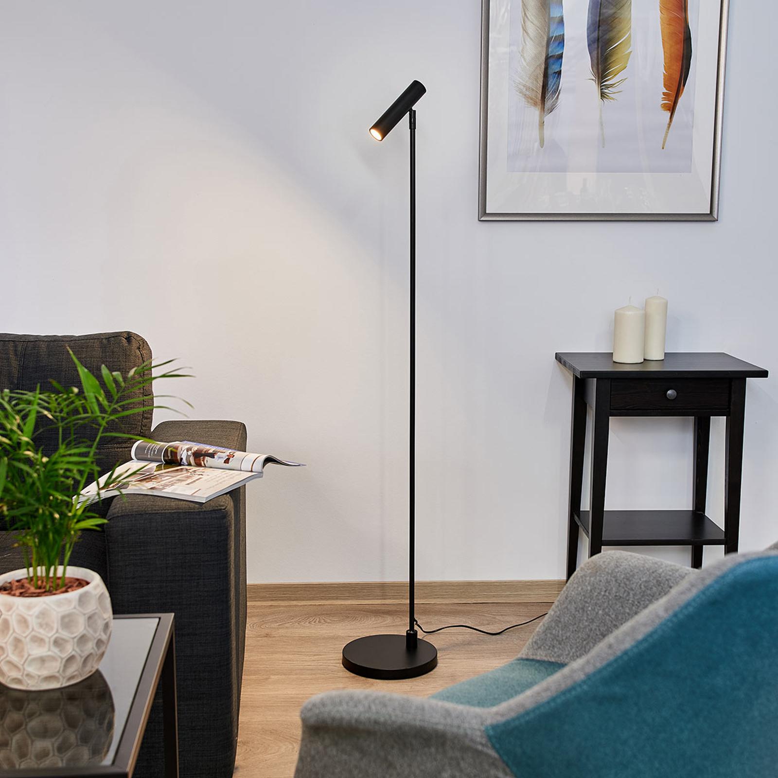 Innovatieve LED vloerlamp Arletta zwart
