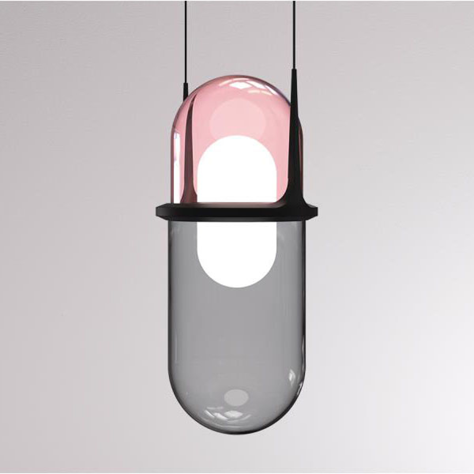 LOUM Pille suspension LED rose/grise