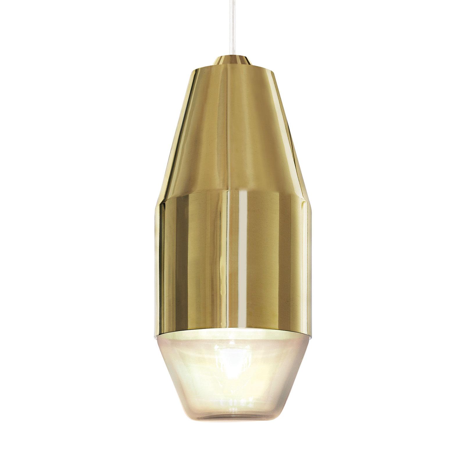 Kundalini Yuma lampa wisząca polerowany mosiądz
