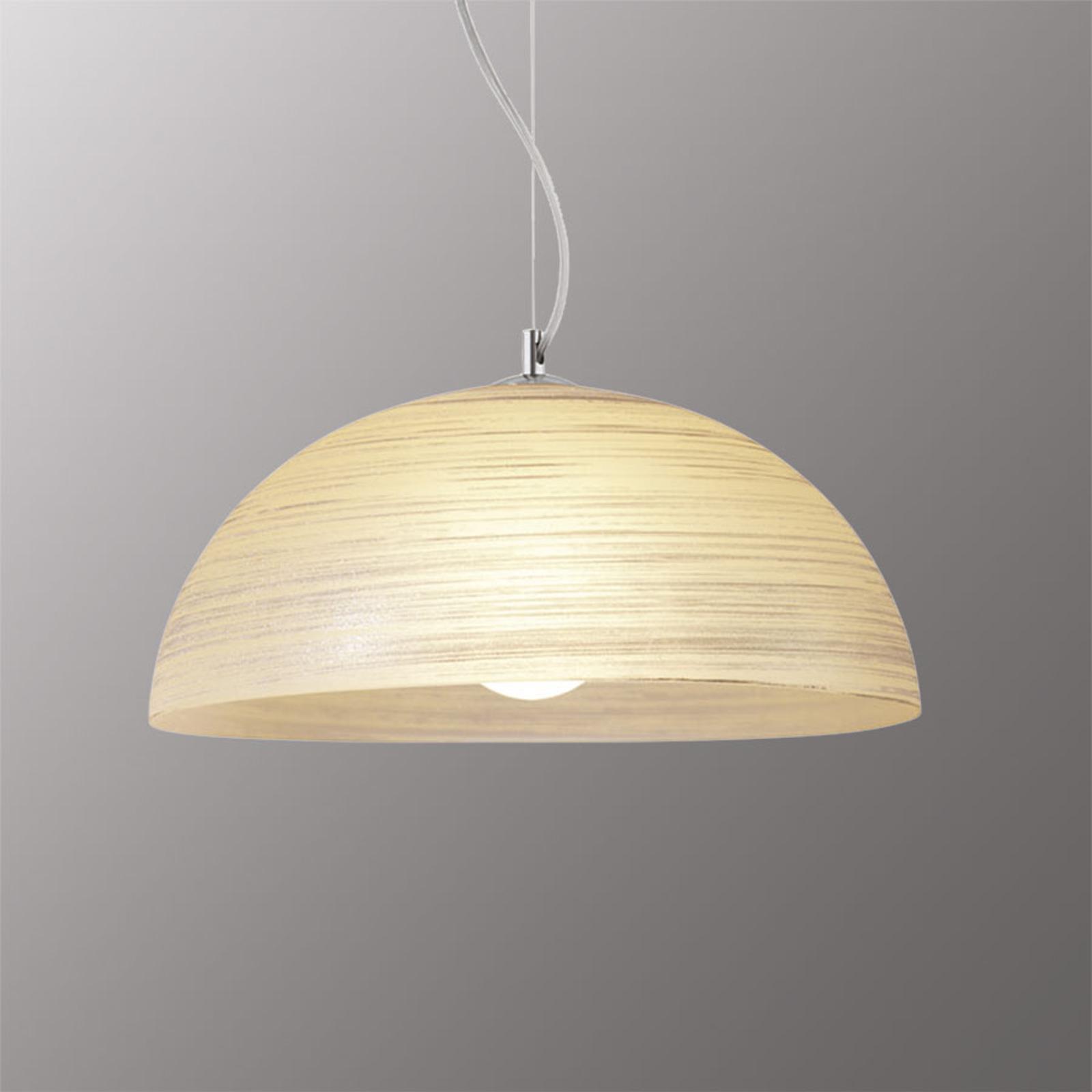 Ręcznie zdobiona lampa wisząca MODESTO, burszt.