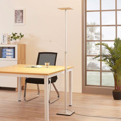 Eckiger LED-Deckenfluter Jernika mit Leselicht