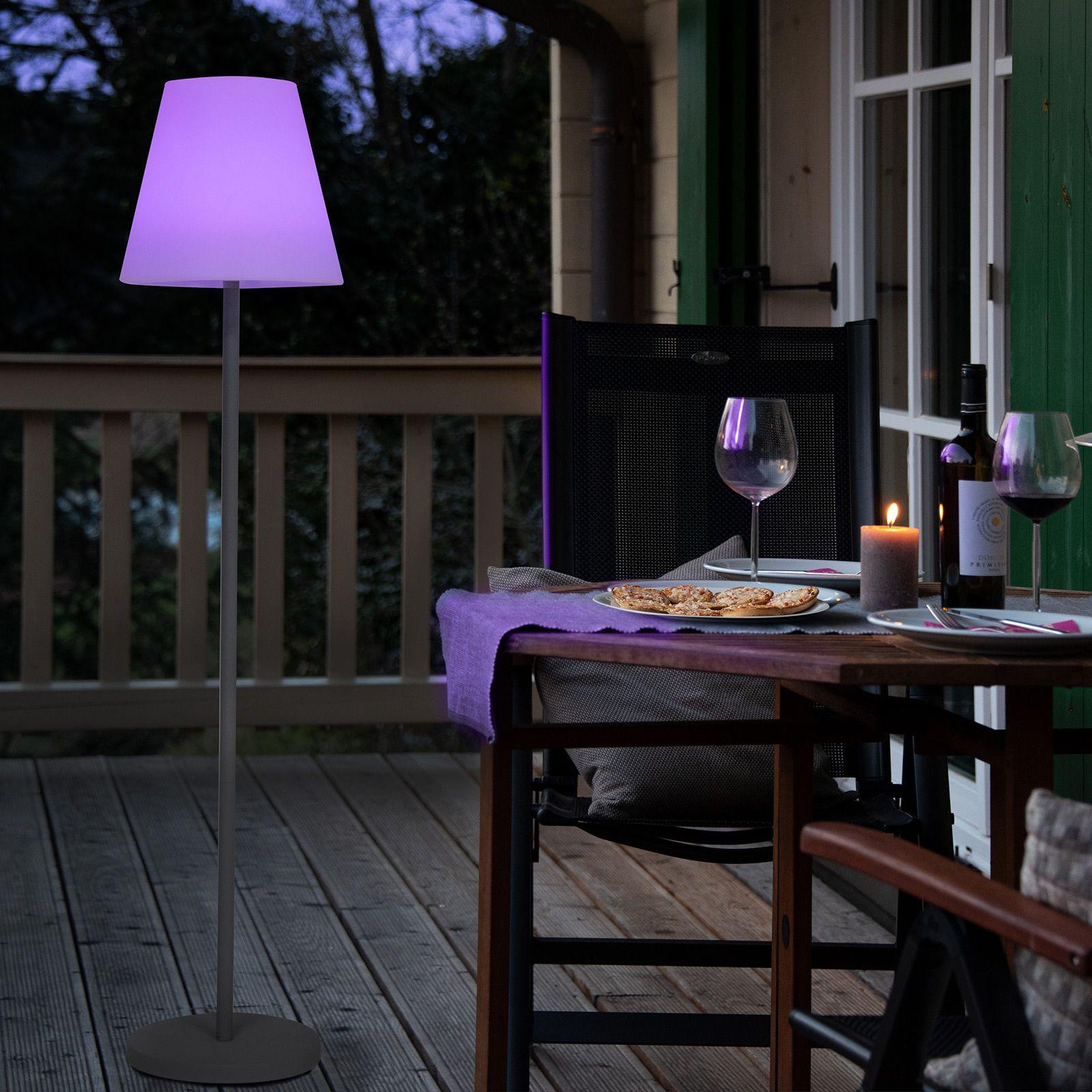 LED vloerlamp solar Menorca kleurverandering IP44