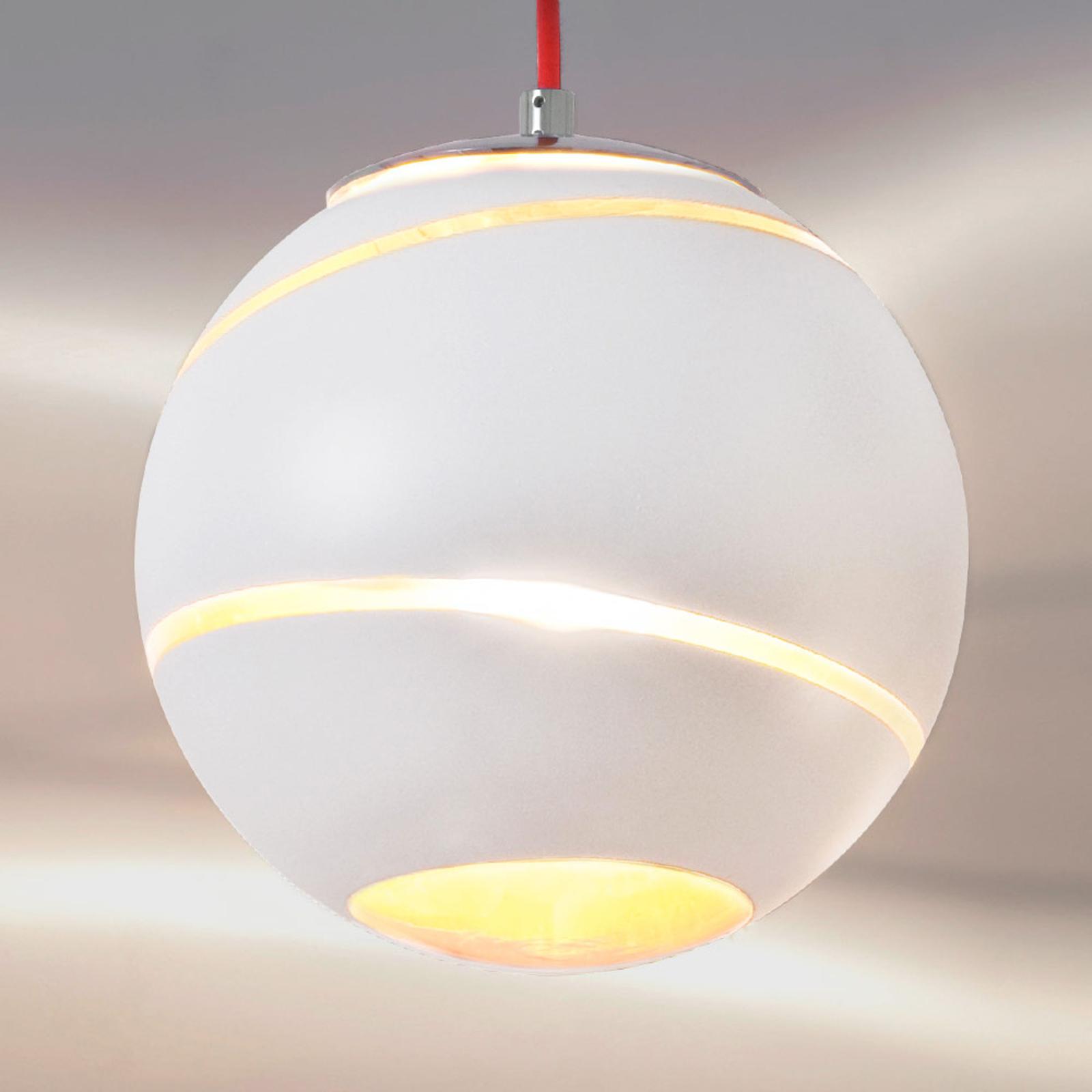 Mała lampa wisząca Bond biała 12 cm