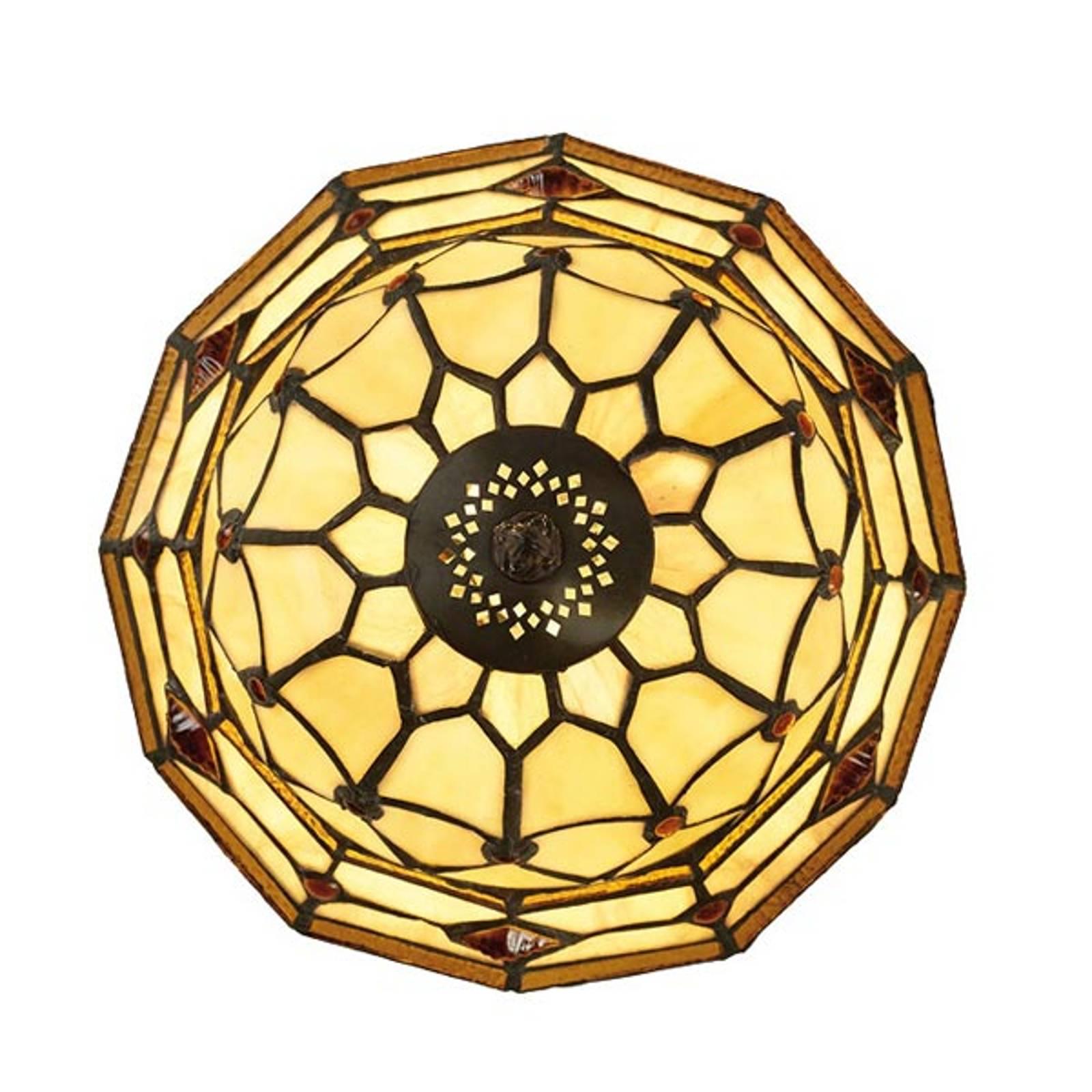 LED-Deckenleuchte Jarai in bunter Tiffany-Optik