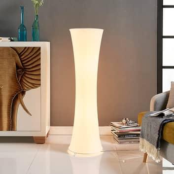 Textilní stojací lampa Liana s konkávním tvarem