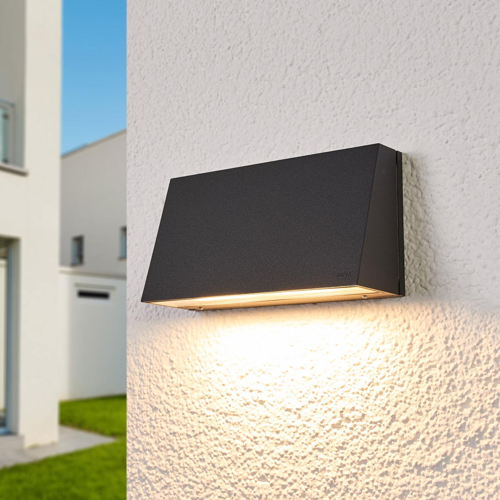 BEGA 22261K3 Außenwandlampe grafit 3.000K 17,5cm