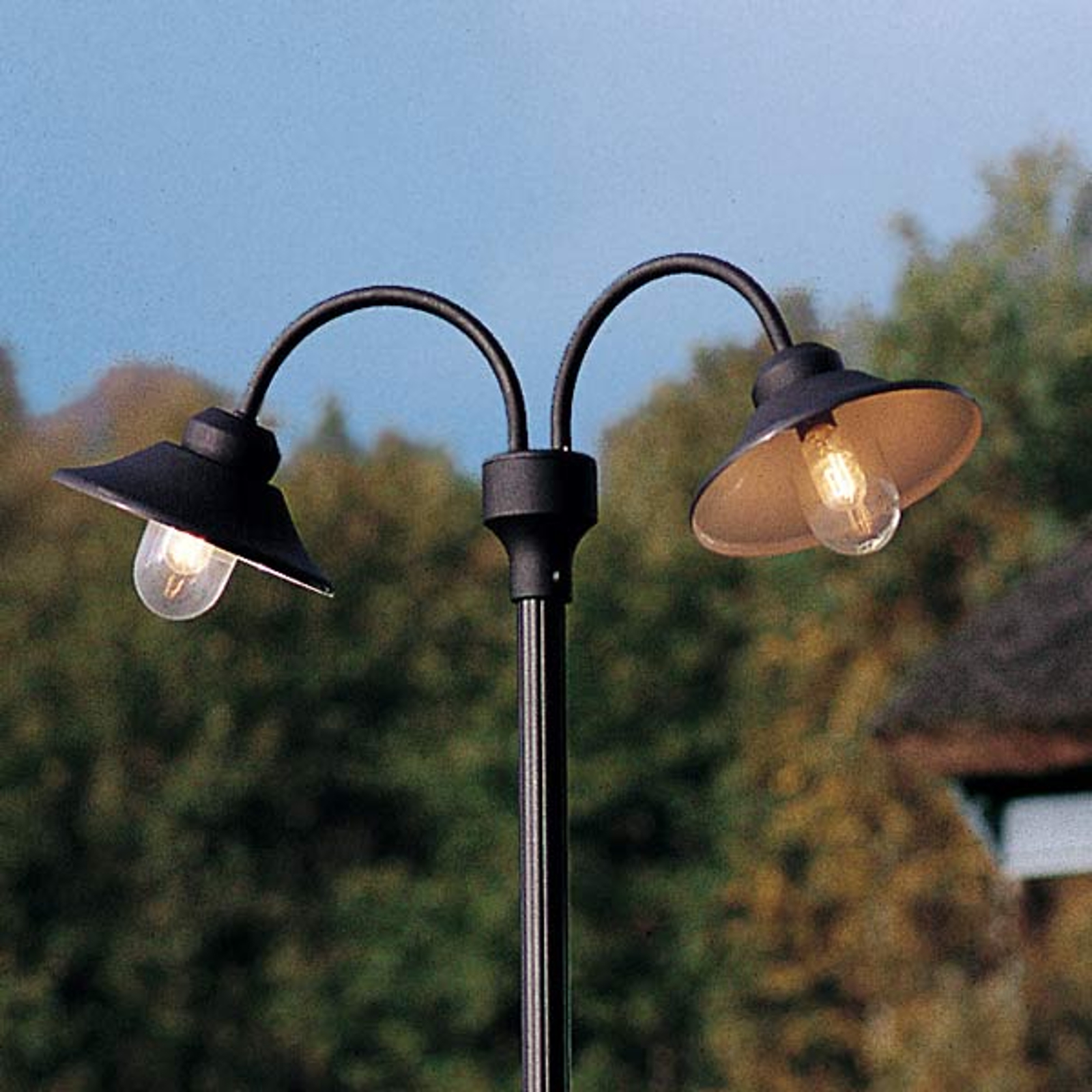 Lampadaire deux lampes VEGA, noir mat