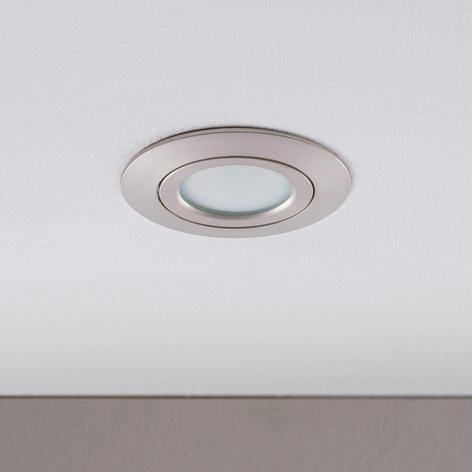LED-downlight Andrej, rund, nikkel