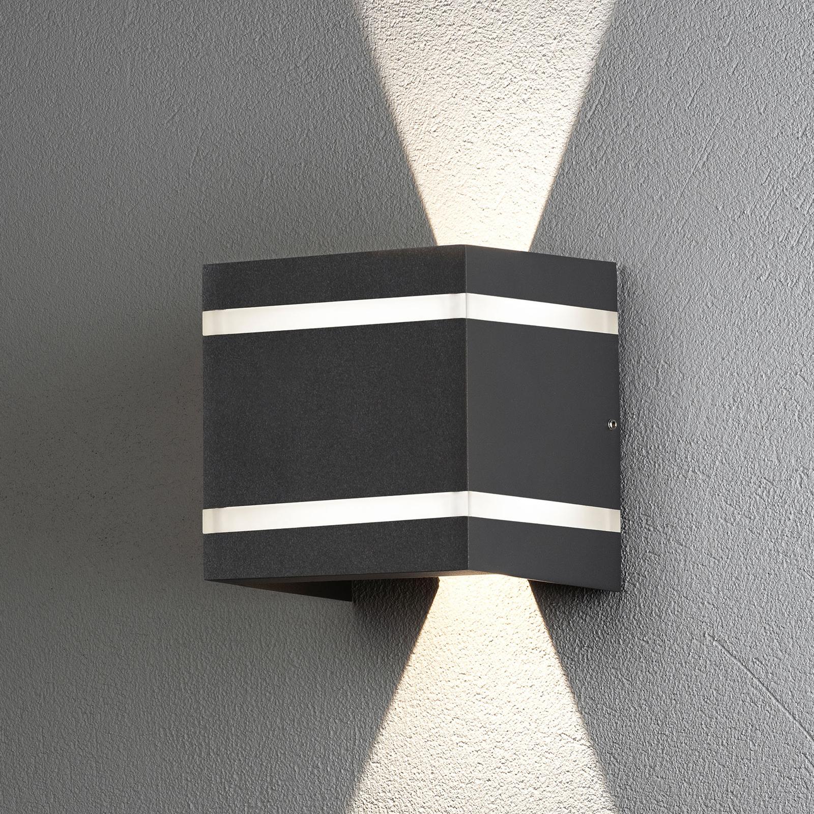 Außenwandlampe Cremona Effektstreifen, Höhe 14cm