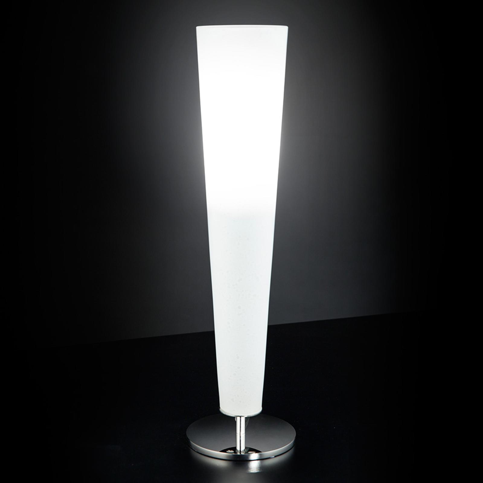 Lampe à poser attrayante GOLD FIRE, blanc