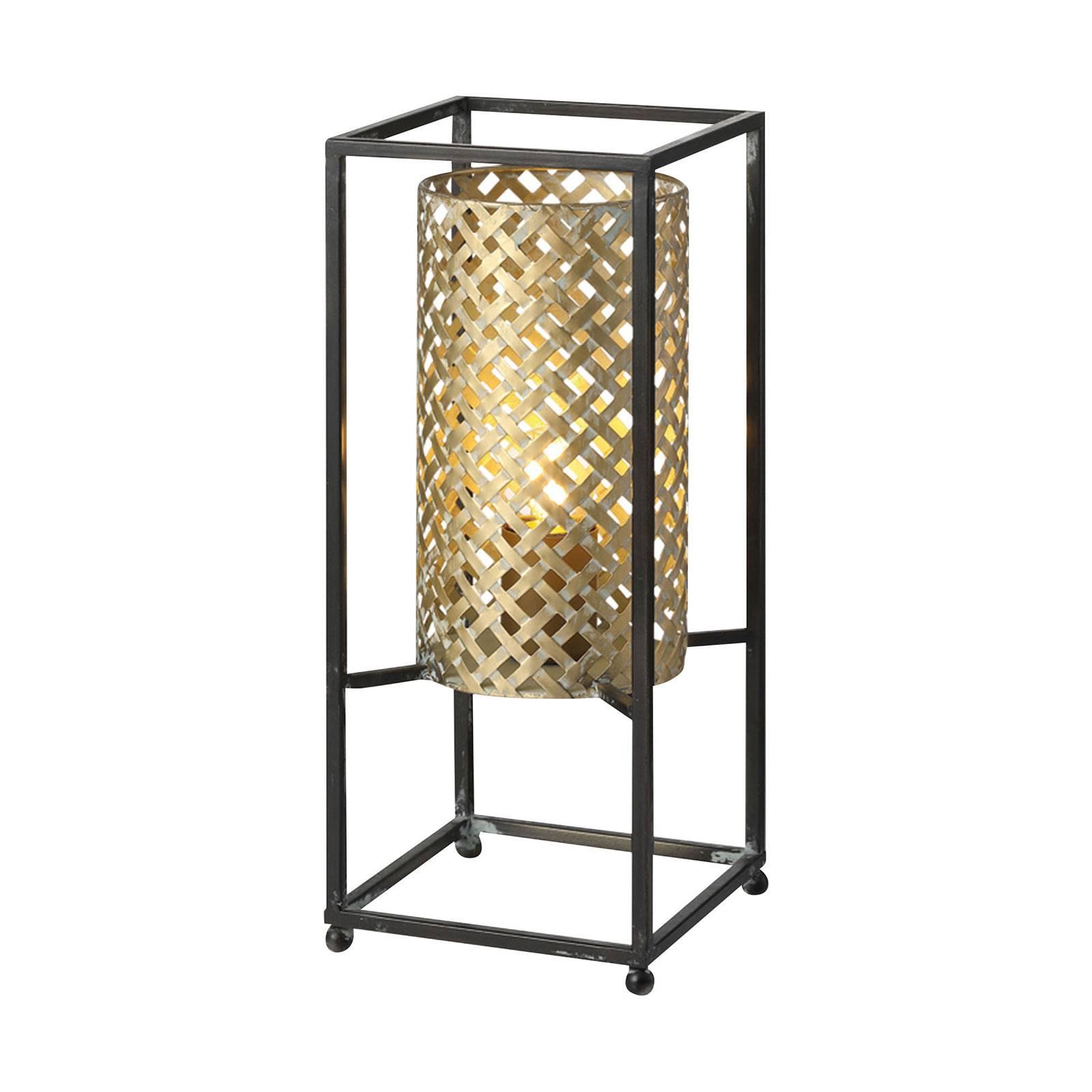 Tafellamp Petrolio, zwart / goud, hoogte 37 cm