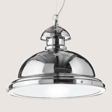 Glanzend verchroomde hanglamp Scirocco