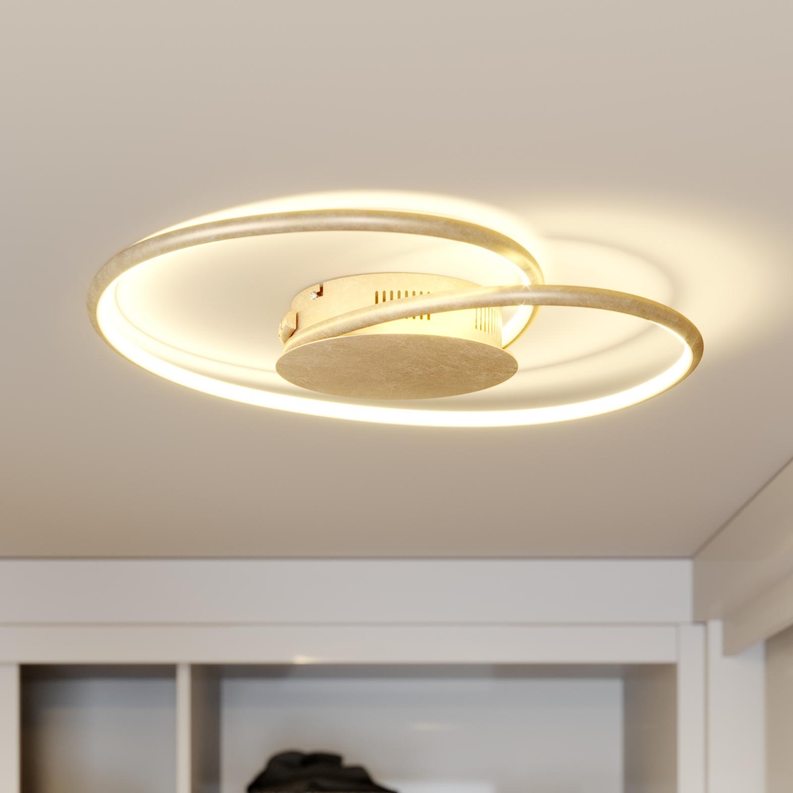 Lindby Joline LED-loftlampe, guld, 45 cm