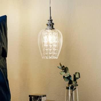 Lampada a sospensione in vetro Blues a una luce