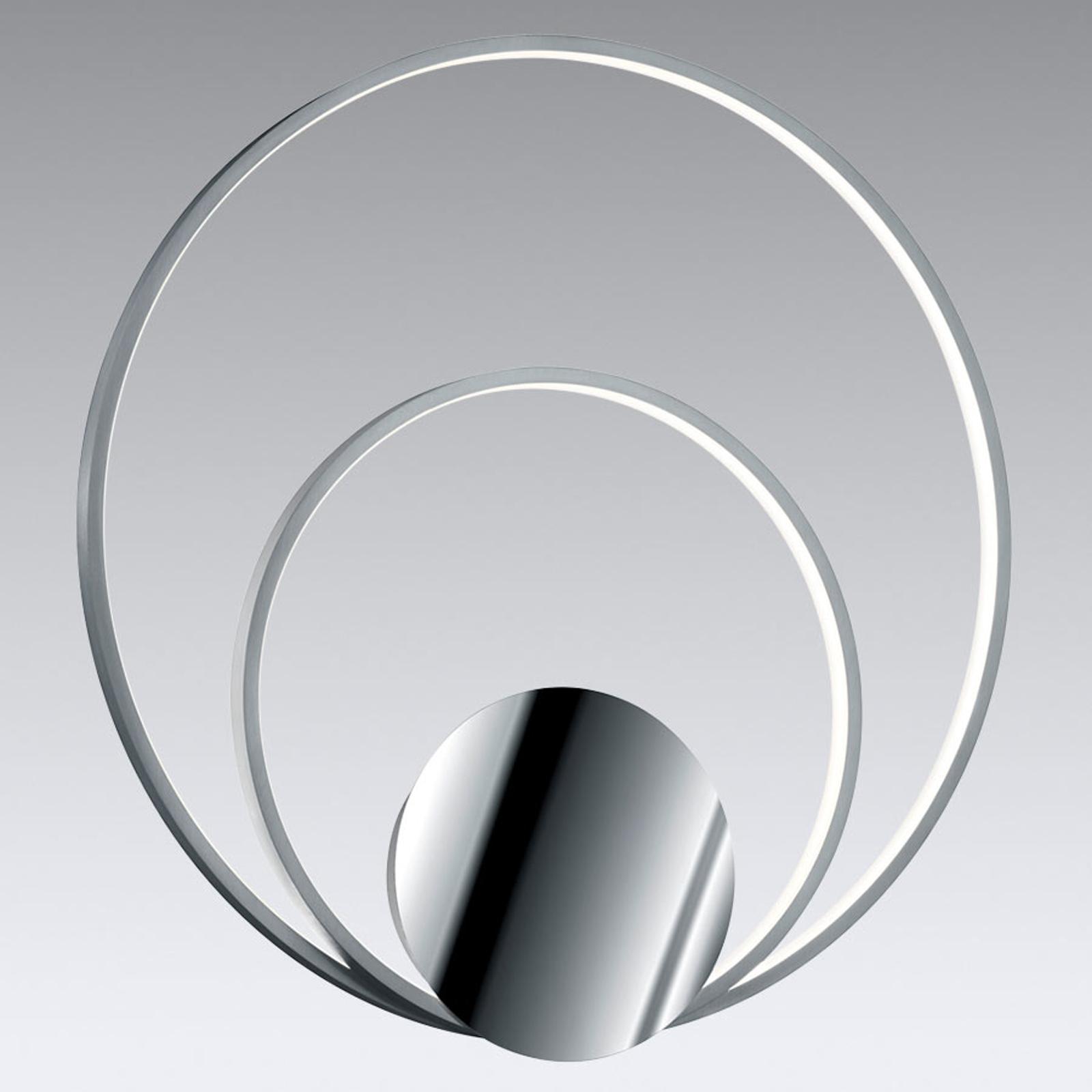 Sedona – dimbar LED-vegglampe i aluminium/krom
