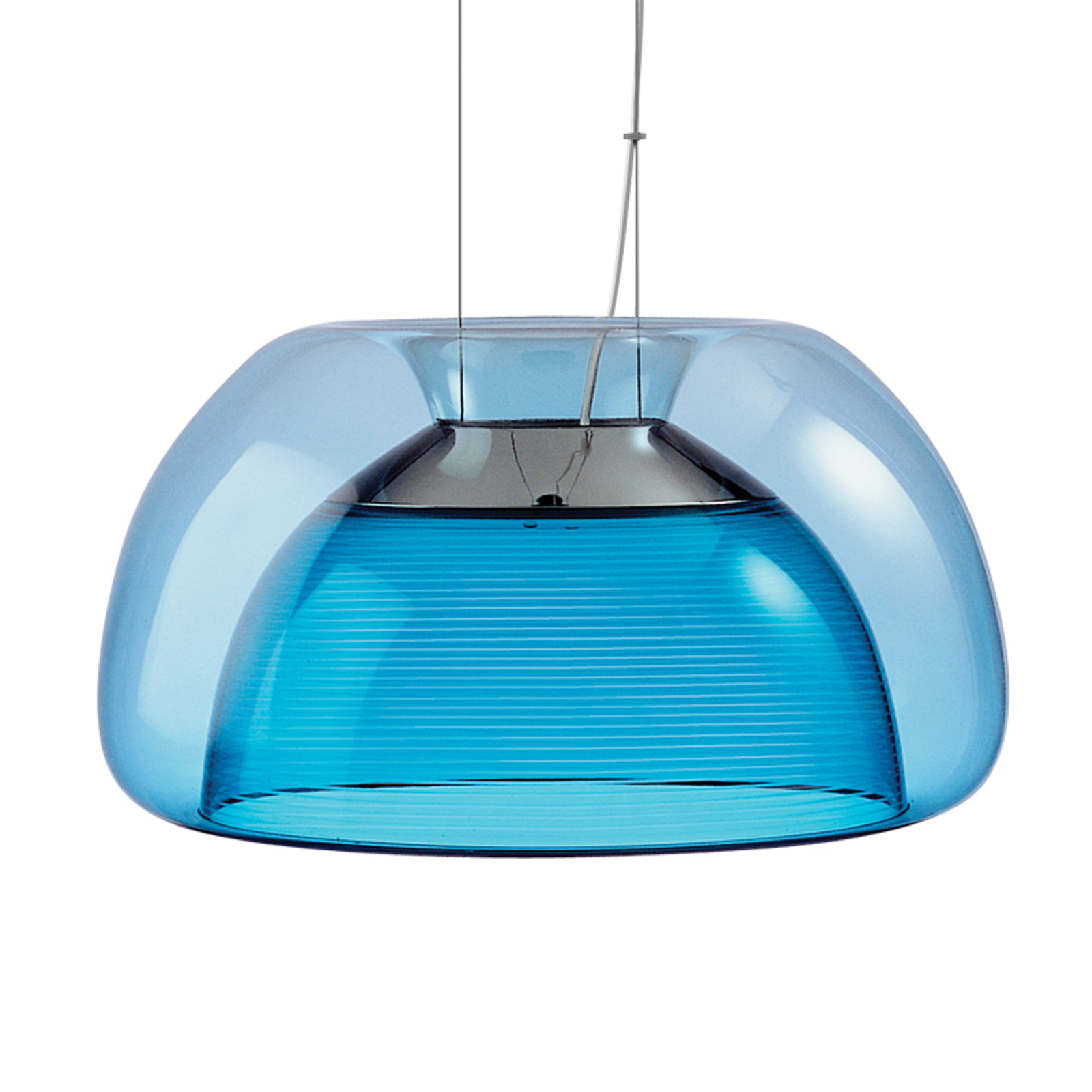 Fargerik LED-hengelampe Aurelia, blå