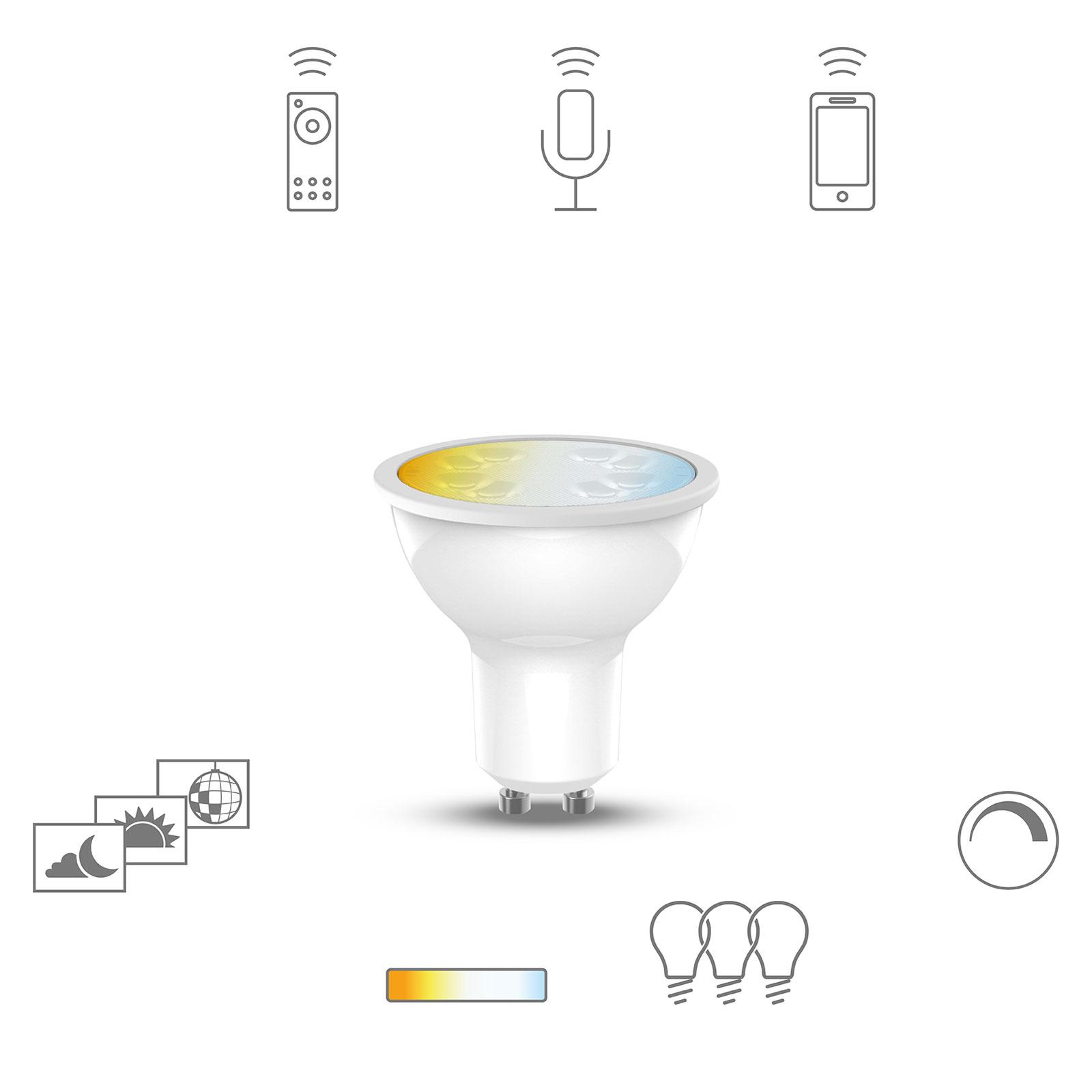 Müller Licht tint white reflektor LED GU10 5W CCT