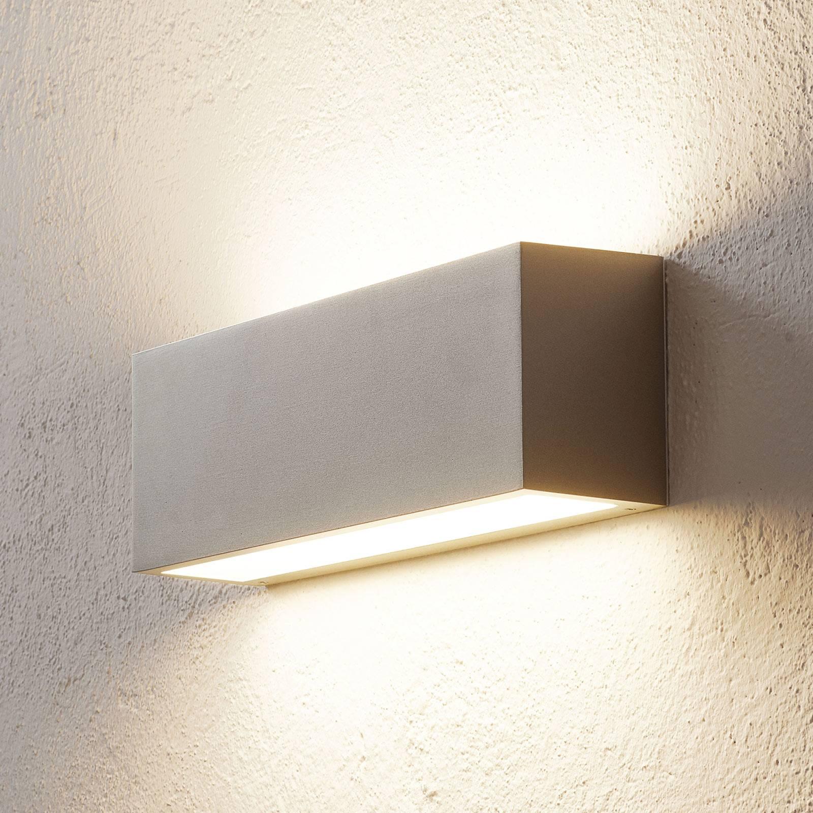 BEGA 50147 applique LED, DALI, 32cm, palladium