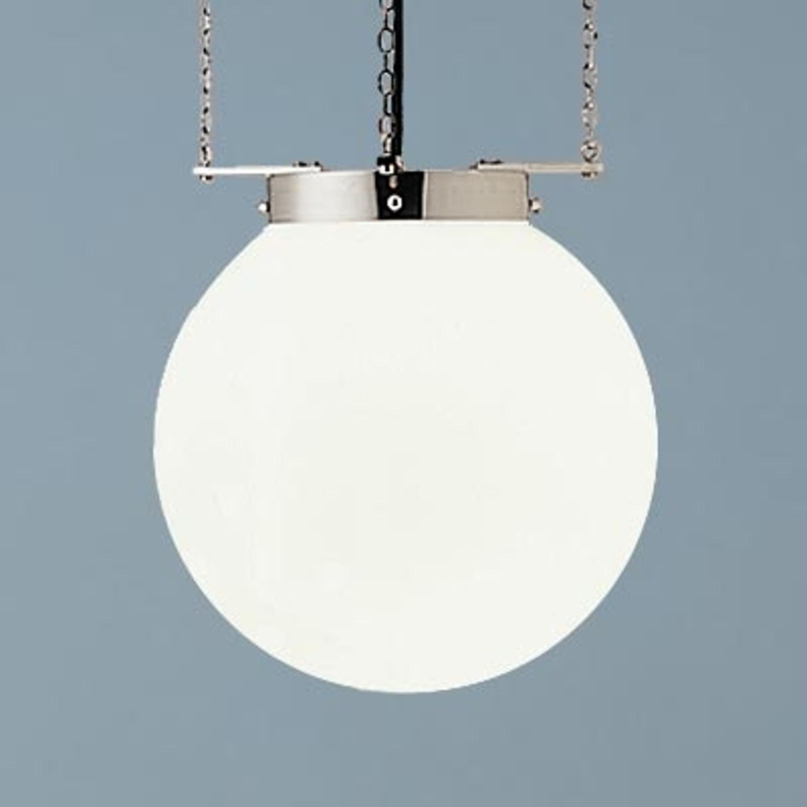 Lampa wisząca w stylu Bauhaus nikiel 30 cm