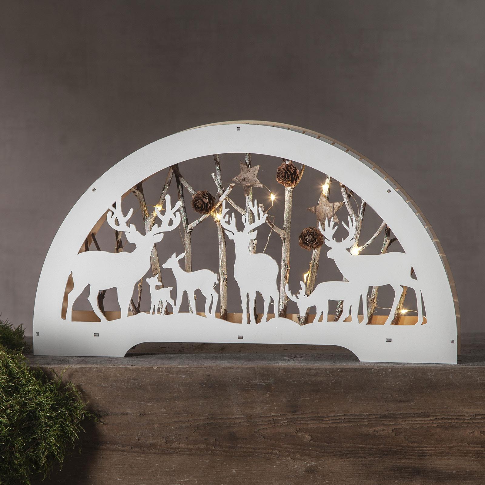 Arc lumineux LED Faune blanc