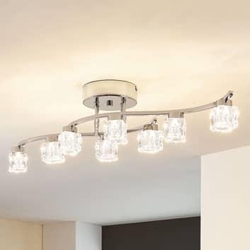Yaro - dimbare, LED plafondlamp met acht lampen