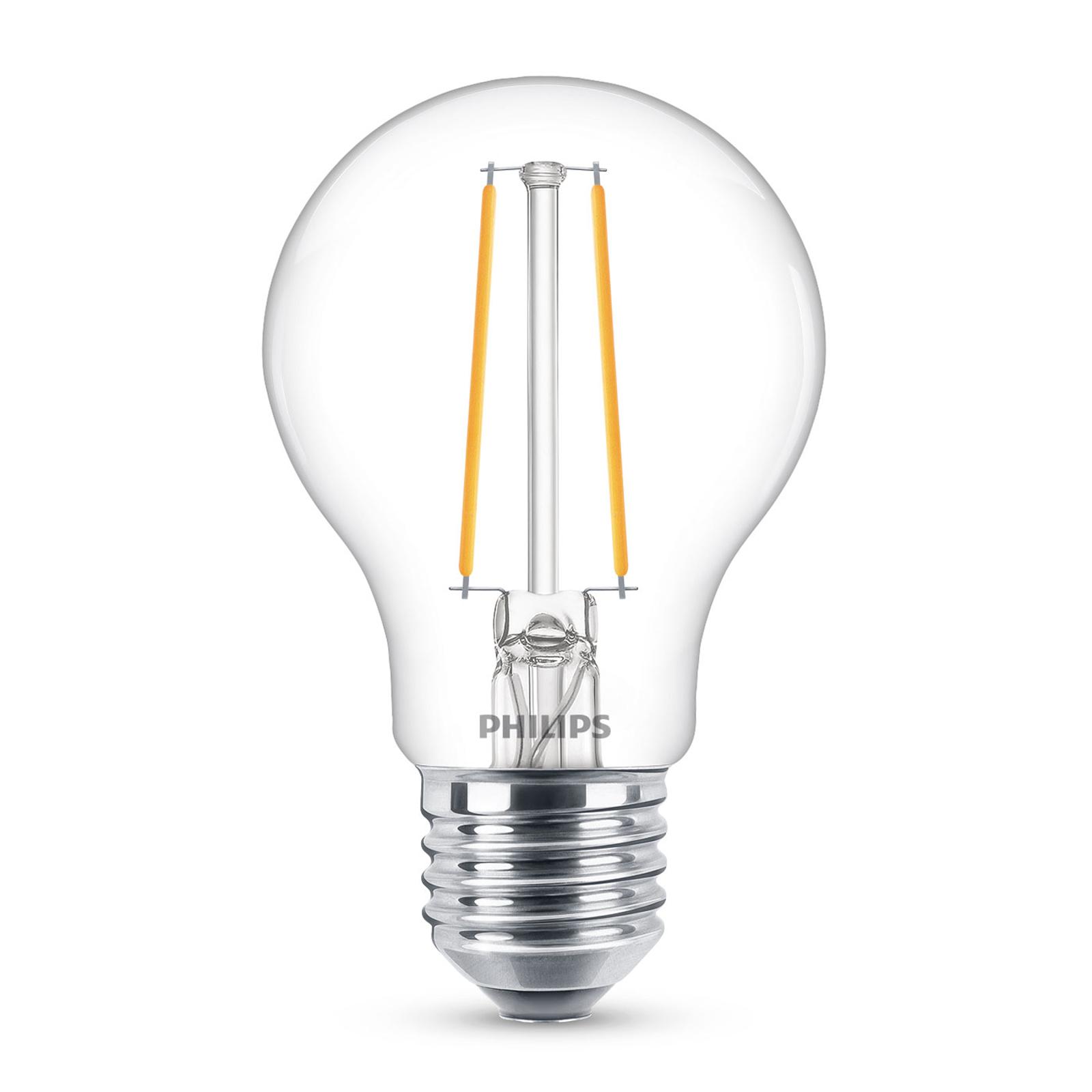 Philips Classic LED-pære E27 A60 2,2W klar 2700K